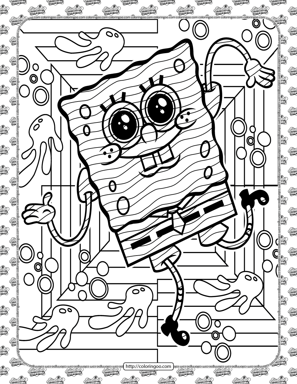 SpongeBob Coloring Sheet for Kids