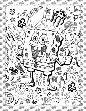 SpongeBob Hand-drawn Coloring Pages