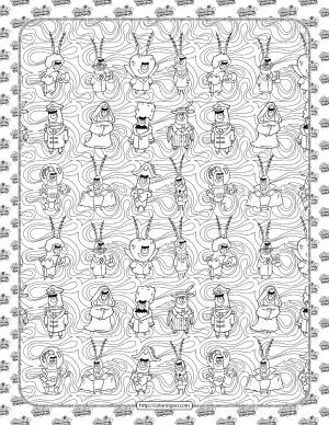 SpongeBob Plankton Coloring Page