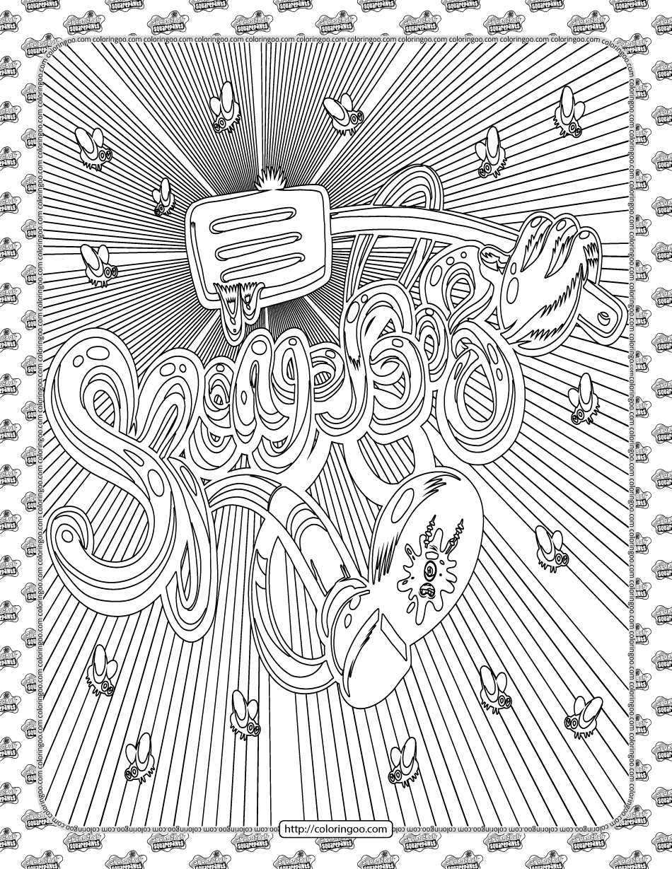 SpongeBob Squarepants Pdf Coloring Sheet