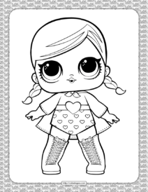 Super B.B Fancy Girl Series 1 Theater Club Coloring Page