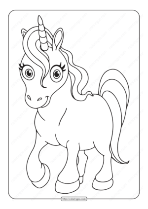Unicorn Coloring Pages 04