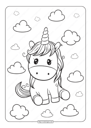 Unicorn Coloring Pages 05