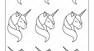 Unicorn Pattern Coloring Page