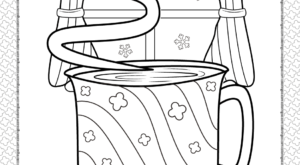 Winter Tea Coloring Page