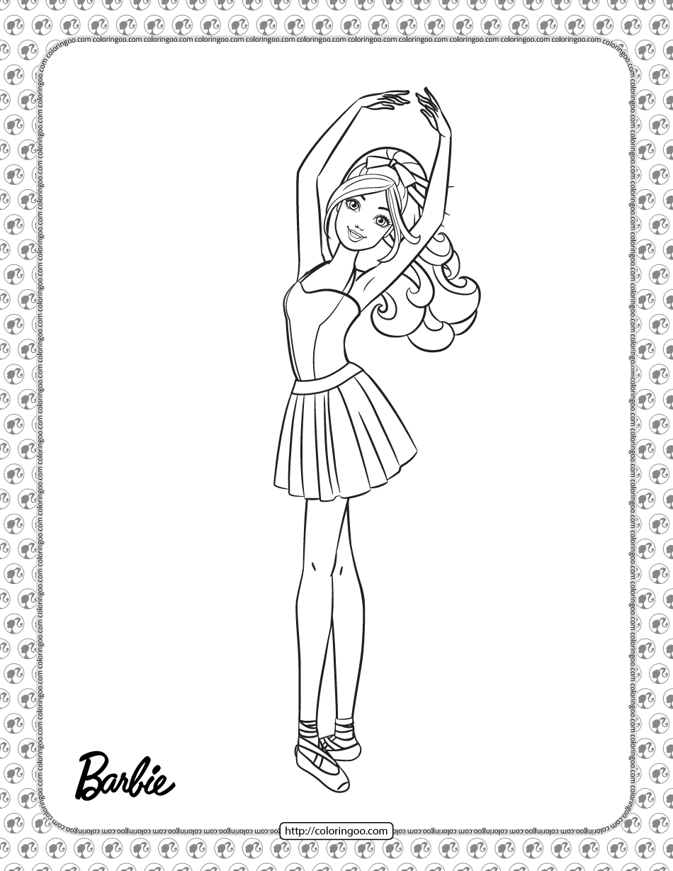 Ballerina Barbie Pdf Coloring Page