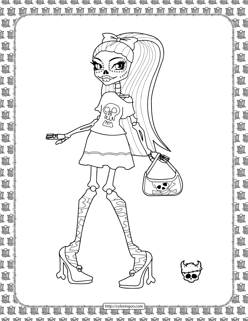 Best Monster High Coloring Pages for Kids