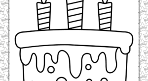 Birthday Cake Pdf Coloring Page