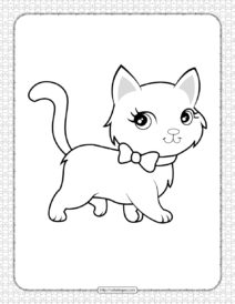 Cute Cat Pdf Coloring Pages