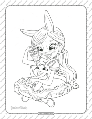 Enchantimals Bree Bunny Coloring Pages