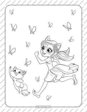 Enchantimals Felicity Fox Coloring Page