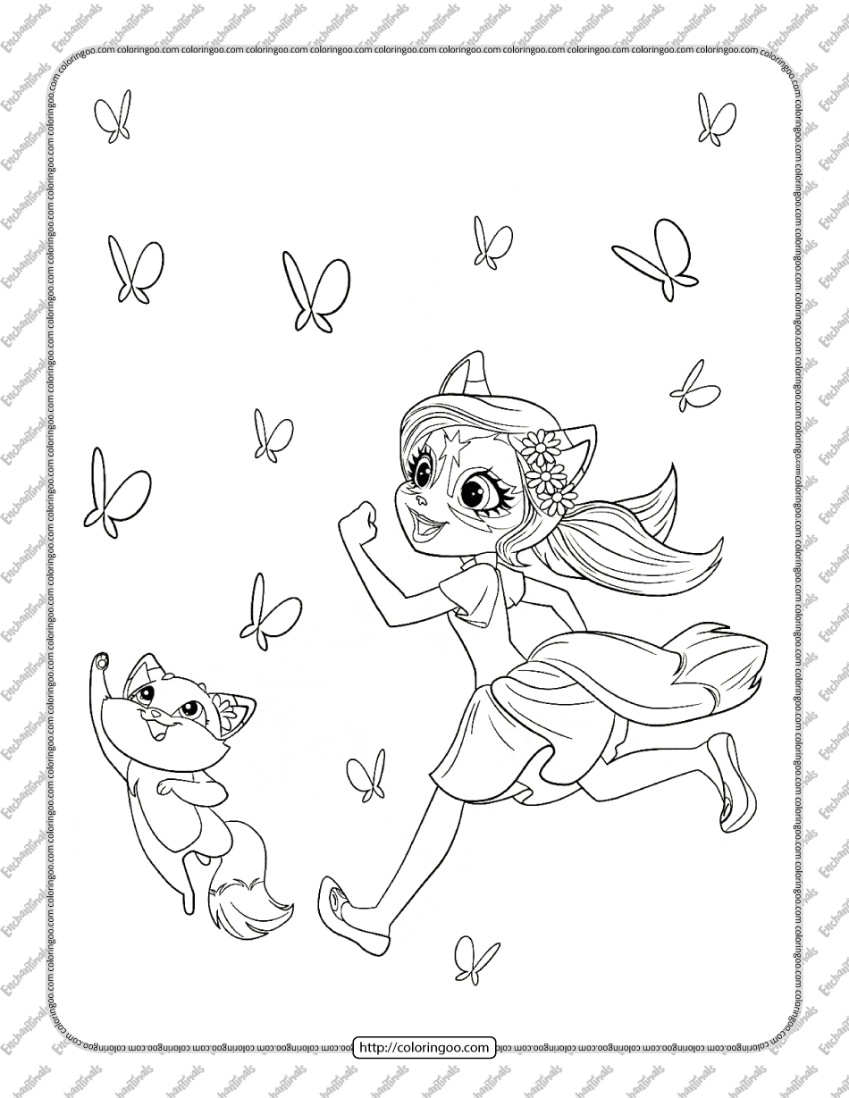 Enchantimals Felicity Fox Coloring Page