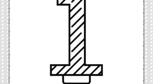First Year Birthday Candle Outline Coloring Page