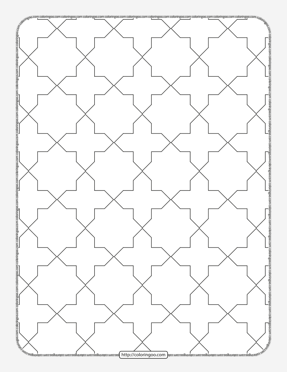Free Printable Geometric Pattern 026