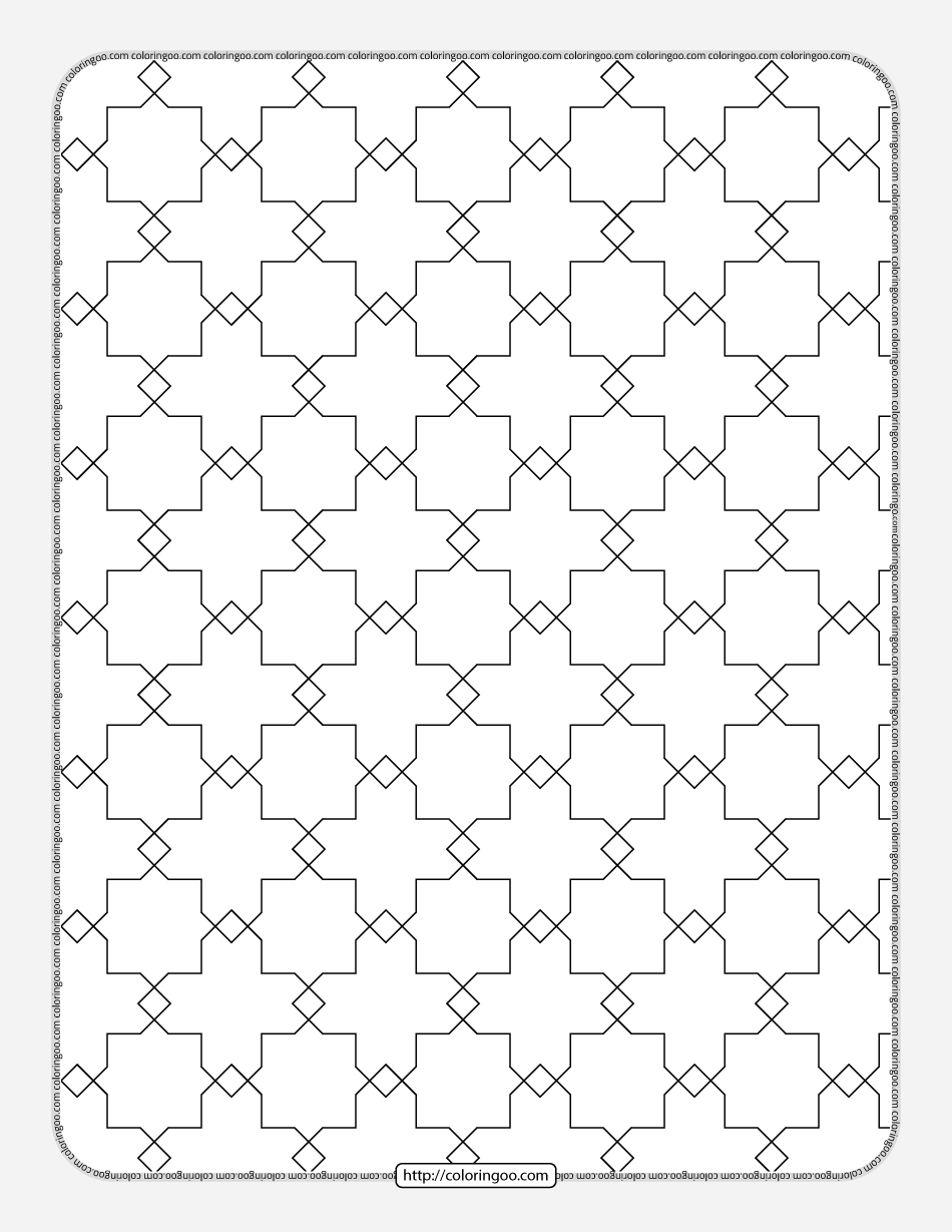 Free Printable Geometric Pattern 027