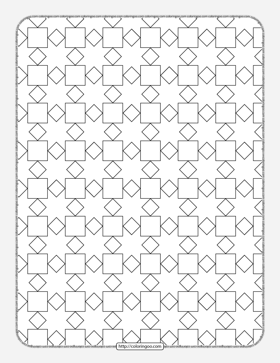 Free Printable Geometric Pattern 028