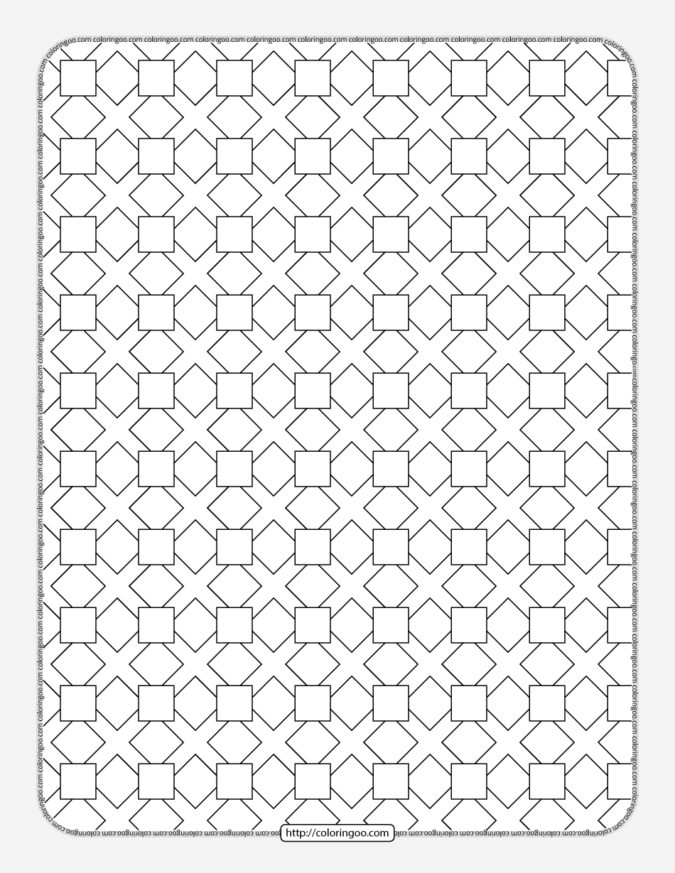 Free Printable Geometric Pattern 029