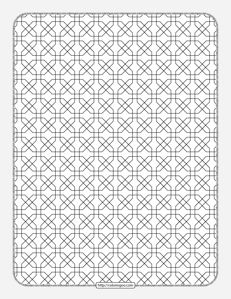 Free Printable Geometric Pattern 030