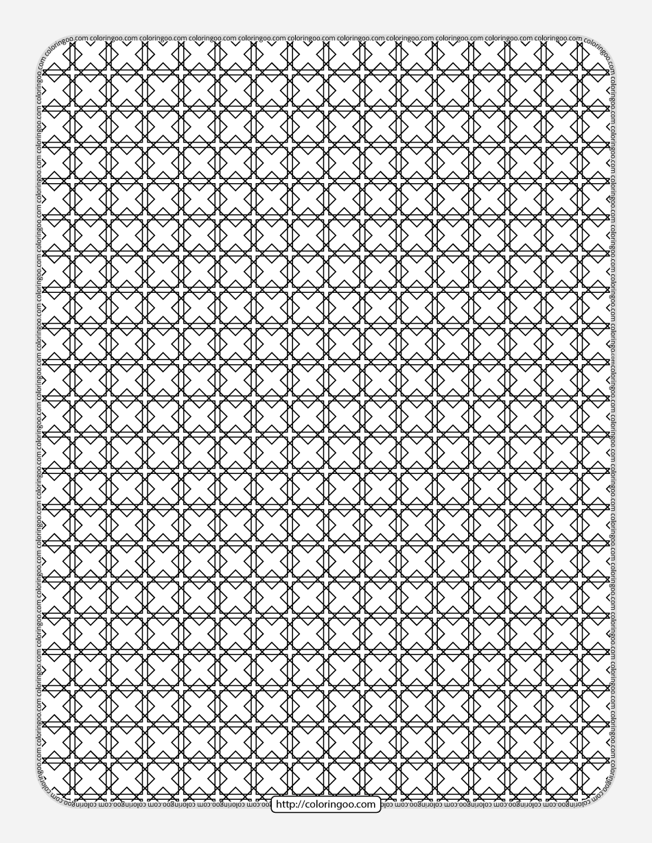 Free Printable Geometric Pattern 031