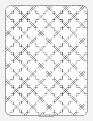Free Printable Geometric Pattern 033