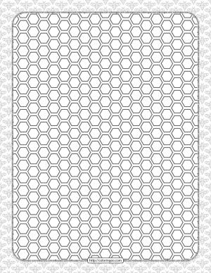 Free Printable Honeycomb Hexagon Pattern