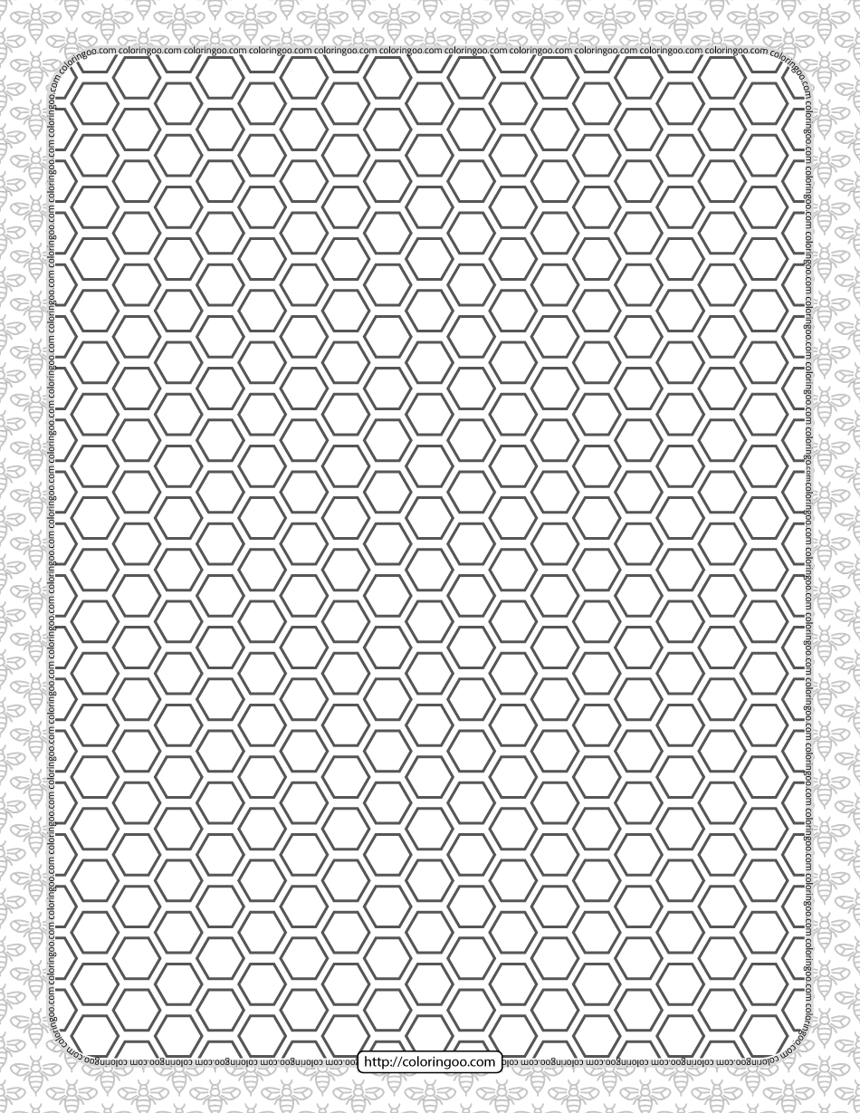 Free Printable Honeycomb Hexagon Pattern