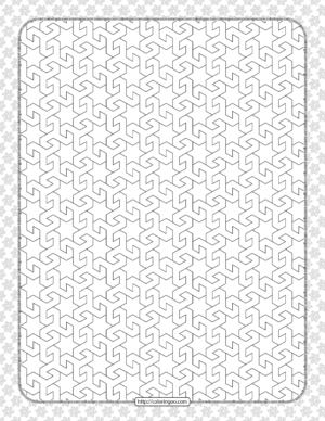 Free Printable Pdf Geometric Pattern 034