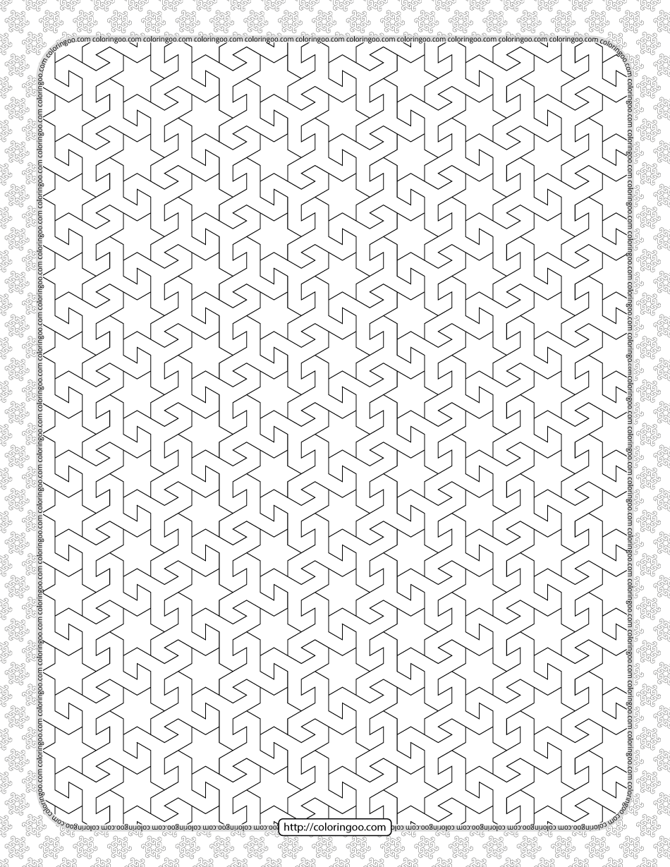 Free Printable Pdf Geometric Pattern 034