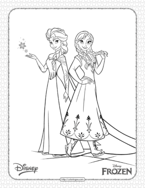 Frozen Elsa and Anna Coloring Pages