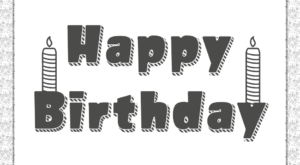 Happy Birthday Text Pdf Coloring Page