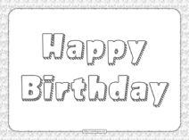 Happy Birthday Text Pdf Coloring Pages