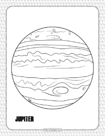 Jupiter Planet Coloring Pages