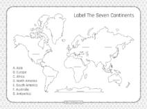 Label The Seven Continents Pdf Worksheet