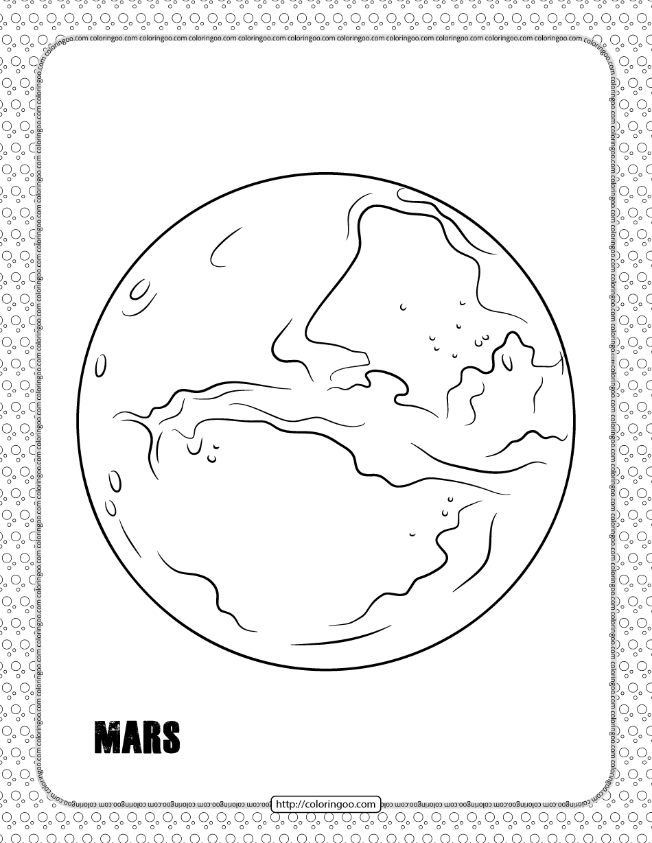 Mars Planet Coloring Pages