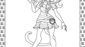 Monster High Catrine deMew Coloring Page