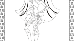 Monster High Cleo de Nile Coloring Page