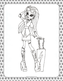 Monster High Coloring Pages for Girls