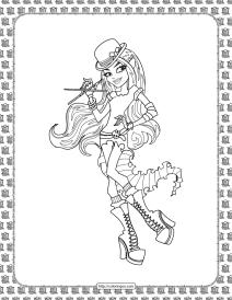 Monster High Coloring Sheet for Kids