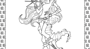 Monster High Coloring Sheet for Kids