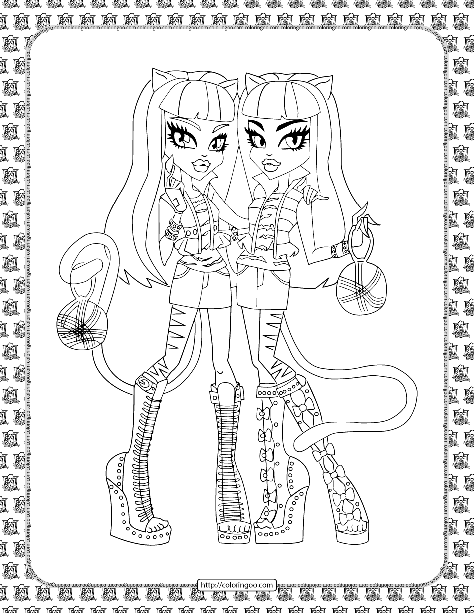 Monster High Coloring Sheet