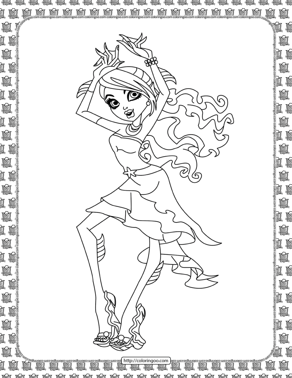 Monster High Pdf Coloring Pages