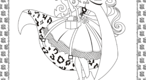 Monster High Toralei Stripe Coloring Page