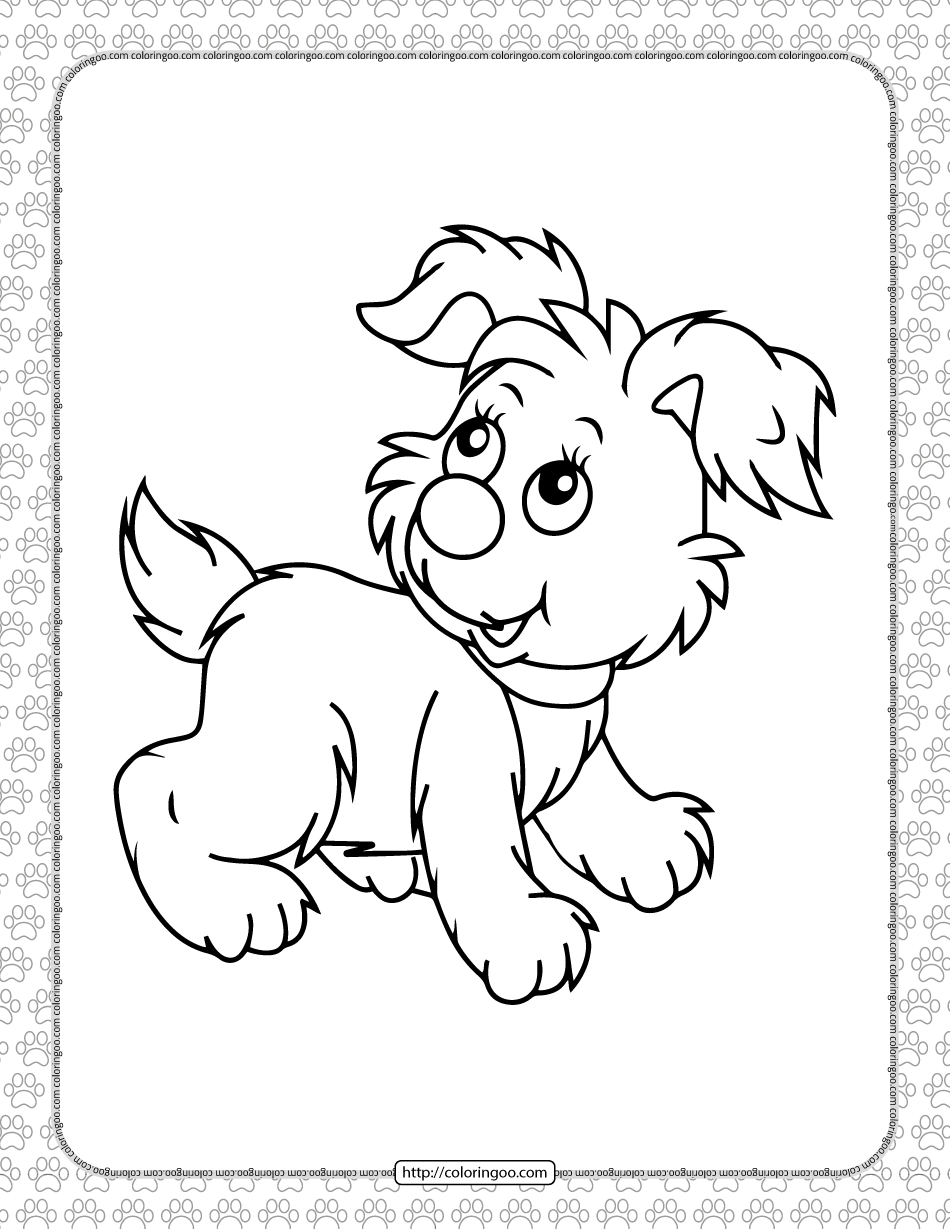 Printable Dog Pdf Coloring Pages