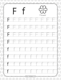 Printable Dotted Letter F Tracing Pdf Worksheet
