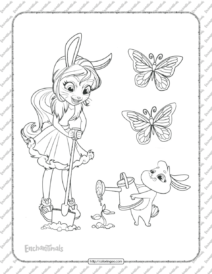 Printable Enchantimals Bree Bunny Coloring Pages