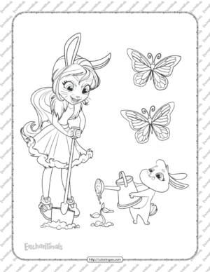 Printable Enchantimals Bree Bunny Coloring Pages