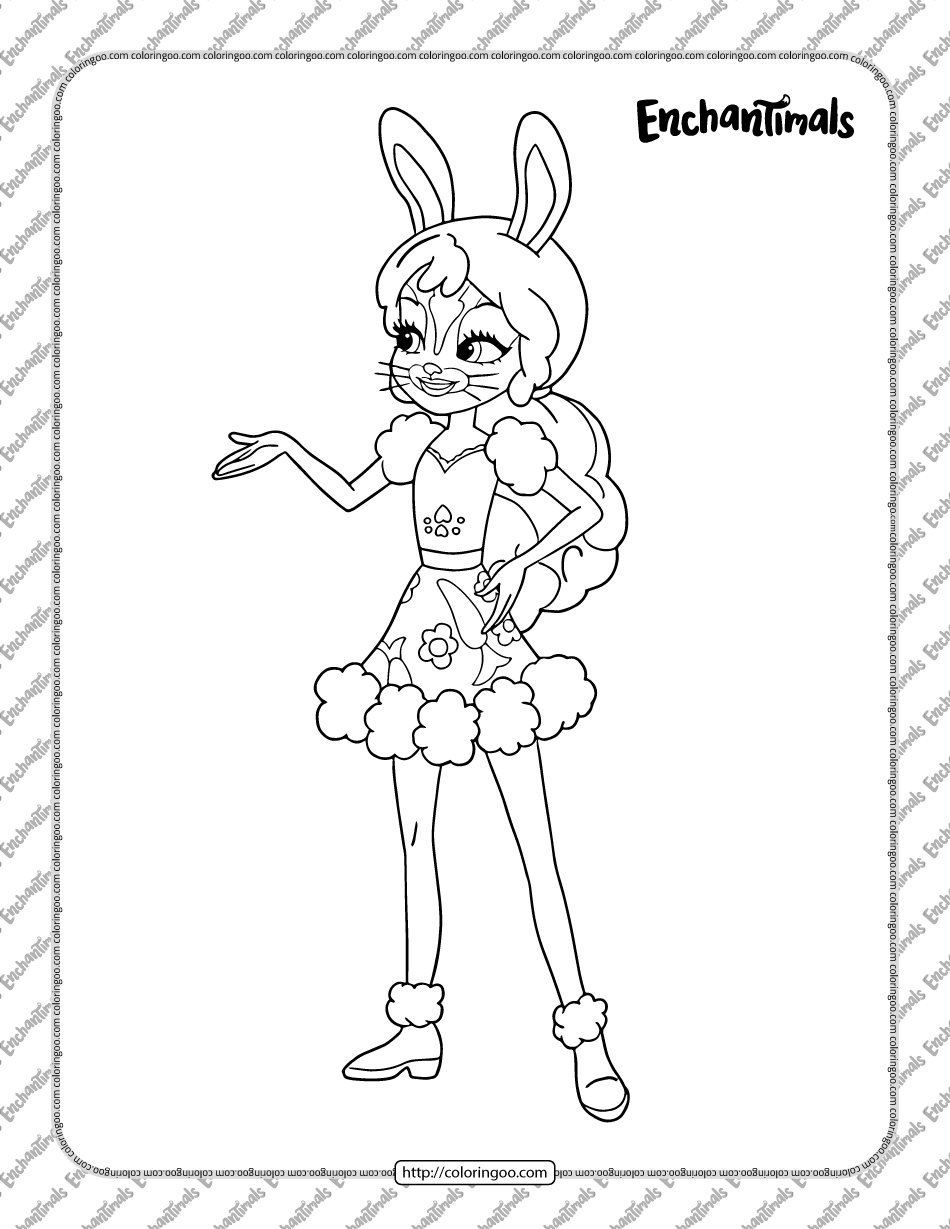 Printable Enchantimals Coloring Page