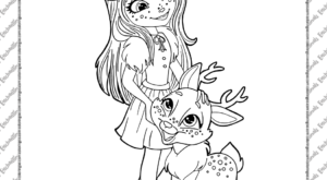 Printable Enchantimals Coloring Pages