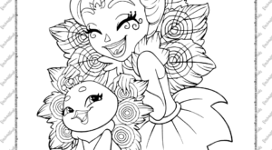 Printable Enchantimals Coloring Pages for Kids