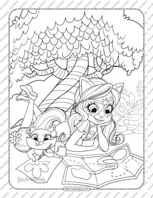 Printable Enchantimals Felicity Fox Coloring Page